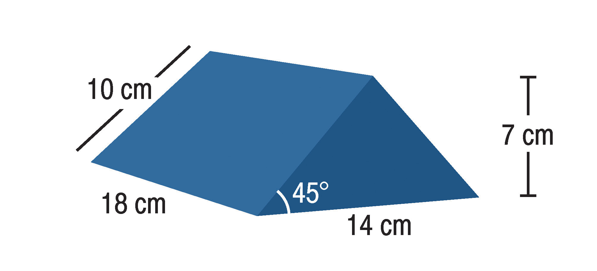 IS-FM-SAS-W45-141810  45° Wedge Small  Covered