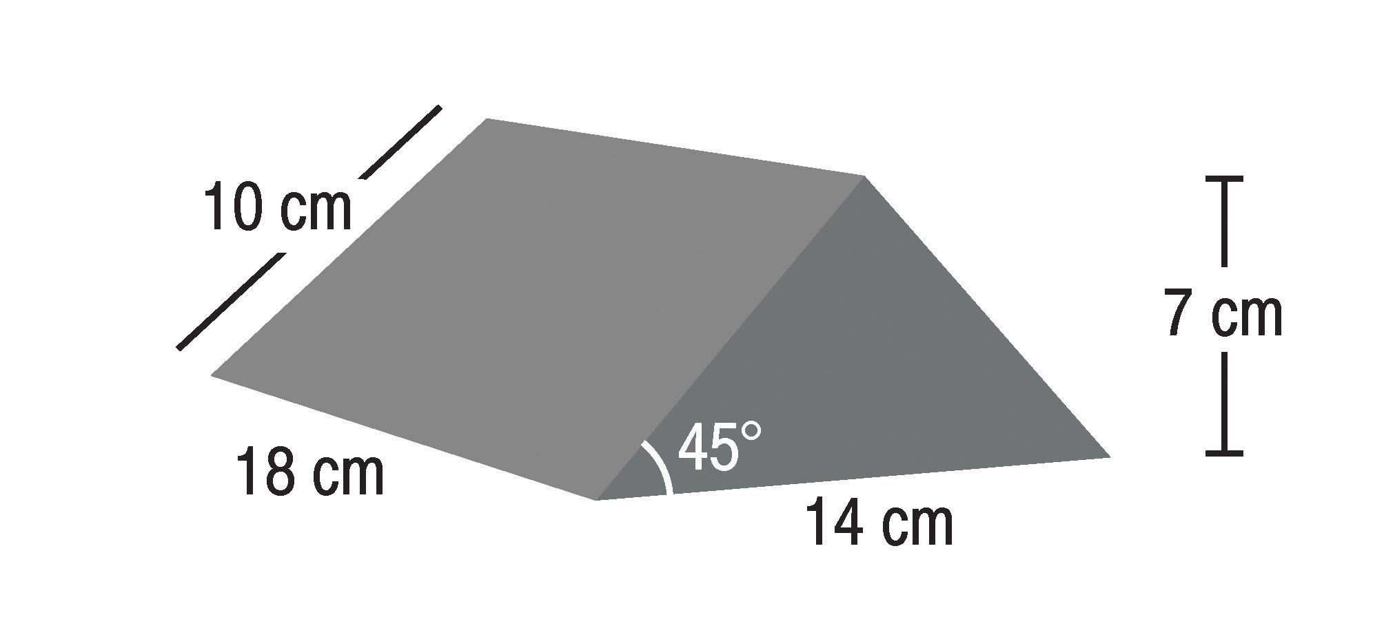 IS-FM-SRN-W45-141810  45° Wedge Small  Raw