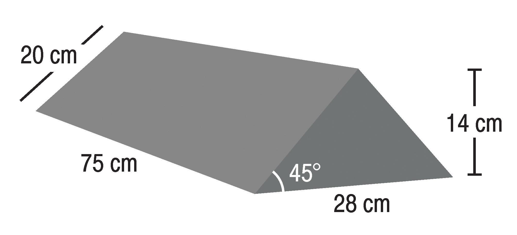 IS-FM-SRN-W45-287520  45° Wedge Extra Long  Raw