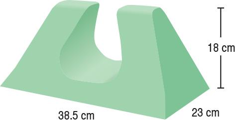 TA-YCAP  Adult Head Immobiliser  38.5 x 23 x 18 cm  Stealth
