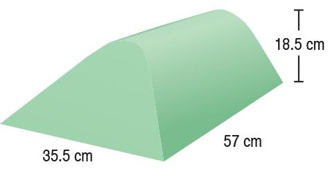 TA-YCAY  Angular Bolster  35.5 x 57 x 18.5 cm  Stealth