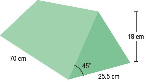 TA-YCBA  Bariatric 45° Wedge  70 x 25.5 x 18 cm  Stealth