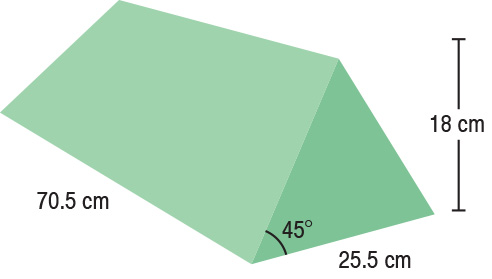 TA-YCBD  45° Wedge  70.5 x 25.5 x 18 cm  Stealth