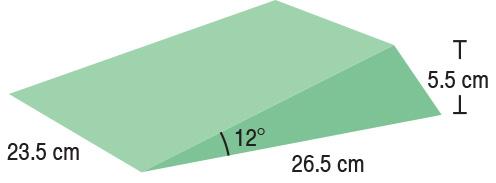 TA-YCBJ  12° Wedge Set (x2)  23.5 x 26.5 x 5.5 cm  Stealth