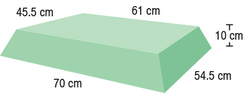 TA-YCBP  Bariatric Decubitus Pad  70 / 61 x 54.5 / 45.5 x 10 cm  Stealth