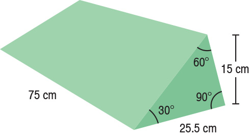 TA-YCBU  30/60/90° Wedge  75 x 25.5 x 15 cm  Stealth