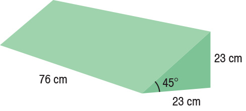 TA-YCCG  Bariatric 45° Wedge  76 x 23 x 23 cm  Standard