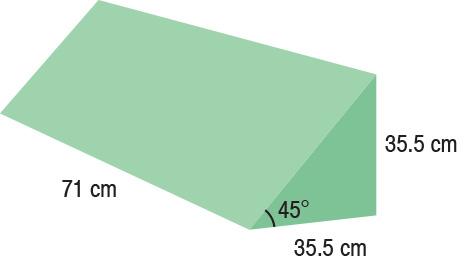 TA-YCDA  45° Wedge  71 x 35.5 x 35.5 cm  Standard