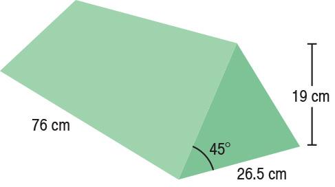 TA-YCEB  45° Wedge  75 x 25.5 x 19 cm  Stealth