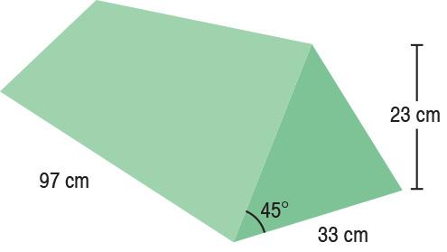 TA-YCEE  45° Wedge  97 x 33 x 23 cm  Stealth