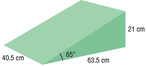 TA-YCEG  65° Wedge  40.5 x 63.5 x 21 cm  Standard