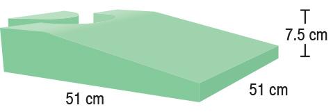 TA-YCEQ  Perineal Wedge  51 x 51 x 7.5 cm  Stealth