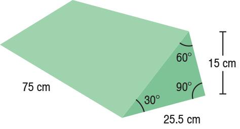 TA-YCEU  30/60/90° Wedge  75 x 25.5 x 15 cm  Stealth