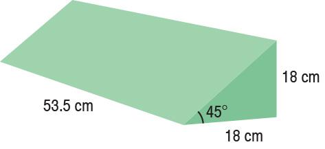 TA-YCFD  45° Wedge  53.5 x 18 x 18 cm  Standard