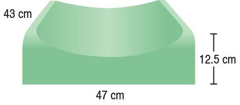 TA-YCMG  Contoured Torso Pad  47 x 43 x 12.5 cm  Standard